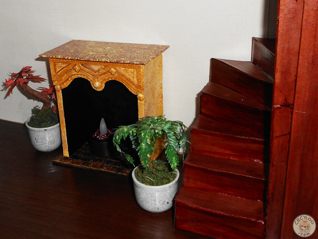 Miniatures : Living room - Fireplace